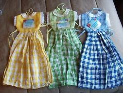 "3 ""Dress"" Towels  100% cotton  crafts, kitchen, covers"