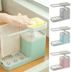 3 IN 1 Soap Dispenser Kitchen Combination Sponge Liquid Pres