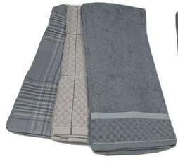 """3 Kitchen Dish Towels 28"""" x 17"""",Low Lint,100% Cotton, De"""