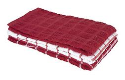 3-Pack Cotton Terry Kitchen Dish Towels Highly Absorbent Pap