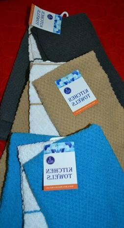 "3 Pack Kitchen Towels 16"" x 26"" 100% Cotton - Choice: Aqua,"