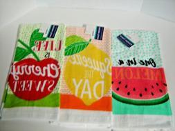 3 Piece Kitchen Towel Set Dish Towel Hand Towels Summer Frui