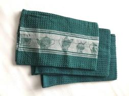 3 Piece Set Kitchen Tea Dish Towel Waffle Weave Cotton Hand