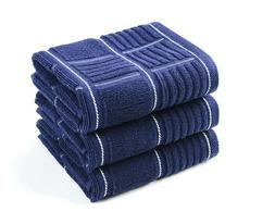 3 Set Kitchen Dish Towels Heavy Duty Absorbent Cloths with H