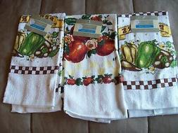 3 Terry Cloth 100% cotton Towels  crafts, kitchen