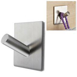 304 Stainless Steel Self Adhesive Hook Key Rack Kitchen Towe