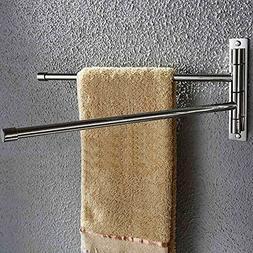 Hiendure 304 Stainless Steel Swing Out Towel Bar Rod Folding