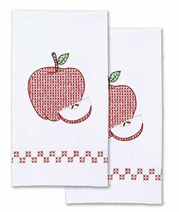 Jack Dempsey Needle Art 320522 Decorative Apples Hand Towels