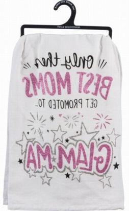 Primitives by Kathy 34215 Lol Glitter Dish Towel, Glam-Ma