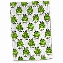 "3D Rose Cute Green Frog Pattern TWL_204729_1 Towel 15"" x 22"""