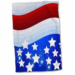 3D Rose USA Patriotic Red White Blue Flag Stars and Stripes