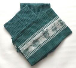 3Pcs Kitchen Waffle Towel Weave Cotton Dish Fabric Mat Tea D