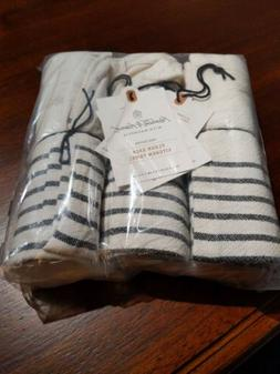 3pk HEARTH AND HAND w/Magnolia  FLOUR SACK KITCHEN TOWEL Cre
