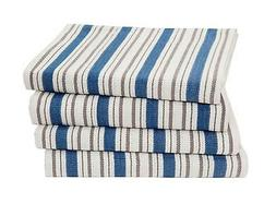 COTTON CRAFT - 4 Pack - Basket Weave Kitchen Towels -Azure B