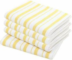 Cotton Craft - 4 Pack - Basket Weave Kitchen Towels - Red -