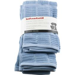 Kitchenaid 4 Pack Kitchen Dish Towels Bar Mops Light Blue