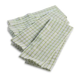 Essential Home 4-Pack Kitchen Towels - Windowpane- Green and