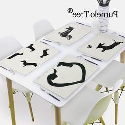 42X32Cm Dachshund Dog <font><b>Table</b></font> Napkin Love