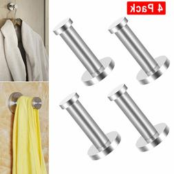 4PCS Brushed Stainless Steel Towel Hook Kitchen Robe Coat Ha