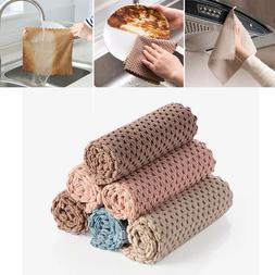 4pcs Microfiber Dishcloth Kitchen Washing Cleaning Towel Dis
