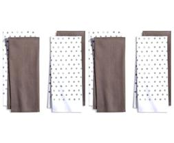 4pk Gray Shapes Kitchen Towel  - Room Essentials™