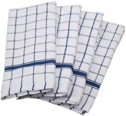 4Set Cotton Terry Windowpane Dish Towel Machine Washable Ult