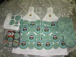 ***   5-PC. HANGING KITCHEN TOWELS+ OWL +GREAT GIFT* CROCHET