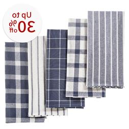 5 Pack Of Kitchen Dish Towels,Absorbent Cotton Tea Towel For