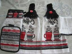 ***  5-PC. HANGING KITCHEN TOWELS+ COFFEE CUPS+GREAT GIFT* C