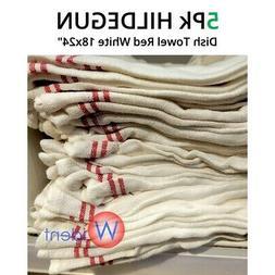5 IKEA TEKLA Economical Kitchen Bar Dish Towel Red White 20x