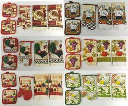 5pc Cotton Kitchen Set DESIGN CHOICE Dish Towels Oven Mitt P