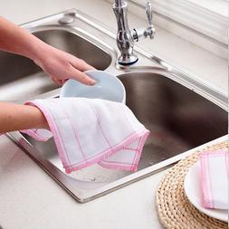 5PCS <font><b>Cotton</b></font> Gauze Cleaning Cloth Rag Abs