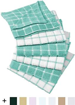 6 Terry Kitchen Dish Cloths Wash Cleaning Towels Linen Set C