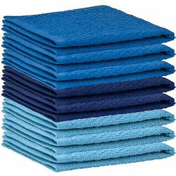 DecorRack 8 Pack Kitchen Dish Towels, 100% Cotton Wash Cloth