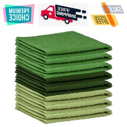 8 Pack Kitchen Dish Towels 100% Cotton Wash Cloth Luxurious