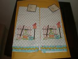 "ARTISTIC ACCENTS 20"" X 20""  KITCHEN TOWEL GARDENING SET OF 2"