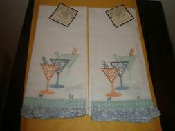 "ARTISTIC ACCENTS 20"" X 20""  KITCHEN TOWEL SET OF 2 MARTINI N"