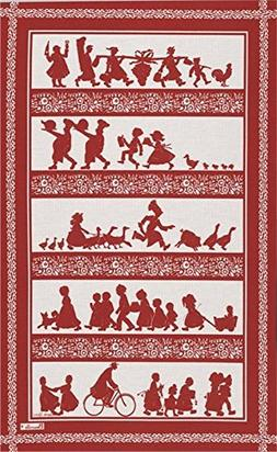 "Beauville, ""Silhouettes"", Rouge French Kitchen / Tea Towel,"