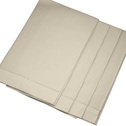 Bumblebee Linens Ecru Linen Hemstitched Tea Towels - set of