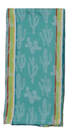 CACTUS GARDEN Kitchen Tea Towel Jacquard Weave Cotton Kay De