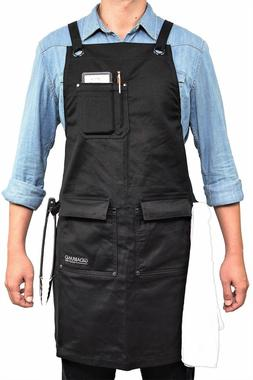 Chef Kitchen Apron with Double Towel Loop for Cooking Grill