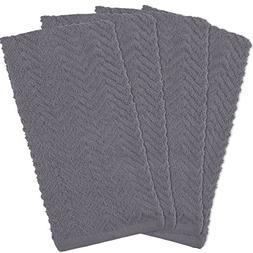 DII Cotton Zig Zag Weave Dish Towels, 16 x 28 Set of 4, Heav