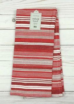 DII Kitchen Dish Towel Design Imports Hand Tea Red White Str