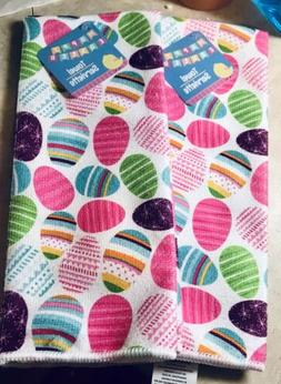 Easter Eggs and Chicks Set of 2 Polyester Kitchen Dish Towel