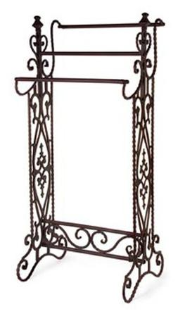 Imax 7781 Narrow Quilt Rack – Three Bar Wrought Iron Stand