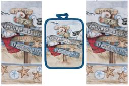 Kay Dee Designs Beach Themed Kitchen Towels  and Potholder B