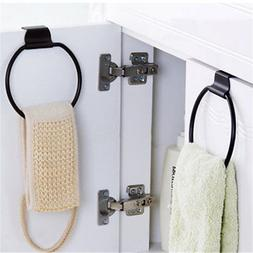 Kitchen Bathroom Over the Cabinet Door Towel Ring Holder Org