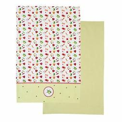 Kitchen Craft 100% Cotton Contemporary Garden Patterned Tea