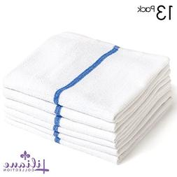 """Liliane Collection 13 Bar Mops Kitchen Towels - 15"""" x 18"""" Co"""