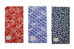 Made in Japan Komon Tenugui Towel 3 type set